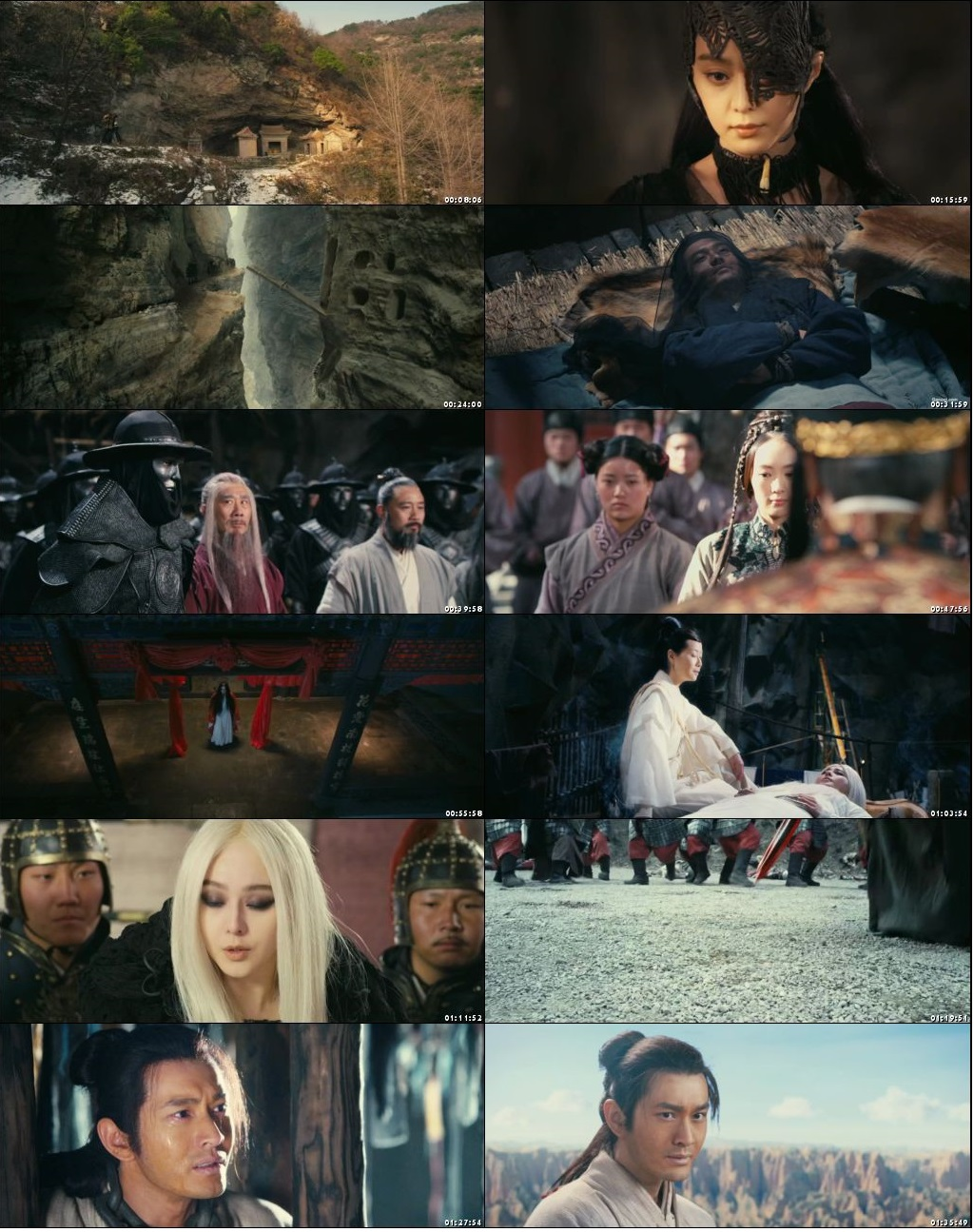 Screen Shot Of The White Haired Witch of Lunar Kingdom 2014 In Hindi Chinese Dual Audio Bluray