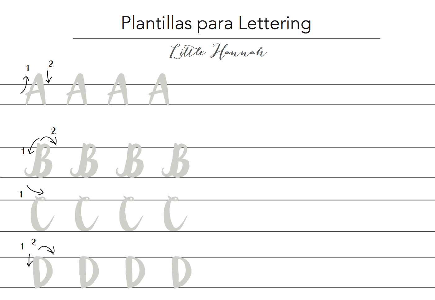 Little hannah descargable nueva plantilla para practicar - Plantillas para pared ...