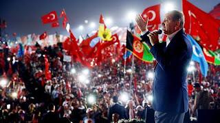 Χιλιάδες τούρκοι, οπαδοί του Ερντογάν, πηγαίνουν στην Κομοτηνή