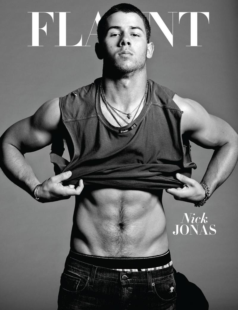 Nick Jonas shows off abs for Flaunt magazine's October 2014 issue