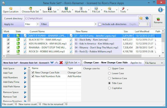 تحميل برنامج اعادة تسمية دفعة واحدة Download Ron's Renamer