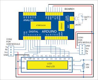 Simple Vehicle Tracking System Circuit Diagram