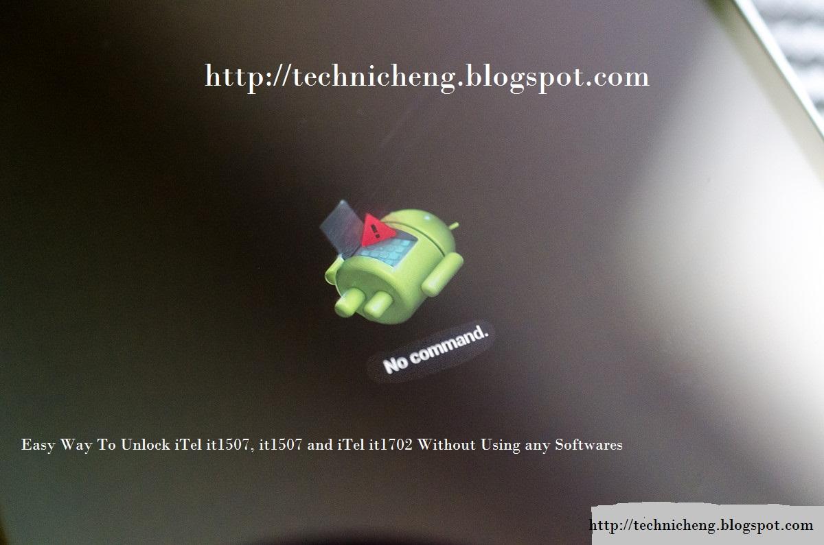 hard reset itel 1507,unlock itel 1503