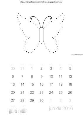Calendario 2016 unir puntos junio