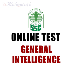 SSC CGL Online Test For General Intelligence : 11 - Nov - 17