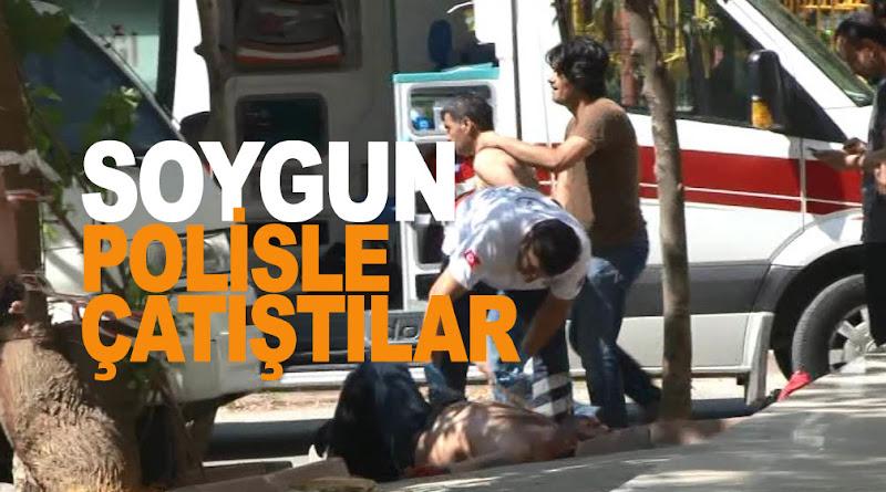 Takipteki soyguncular polisle çatıştı: 4 yaralı!