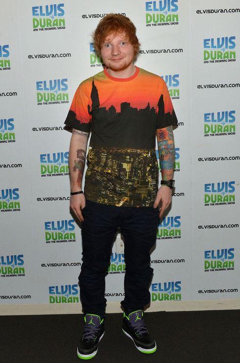659a509d377 Celeb Sneaker Game  Ed Sheeran Wearing Air Jordan 3 Retro