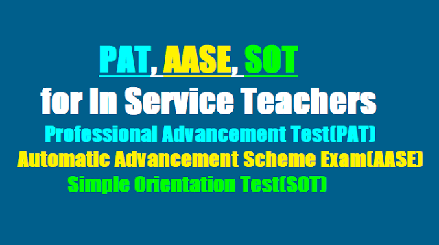 PAT,AASE,SOT, Professional Advancement Test(PAT) 2017 for AP Teachers