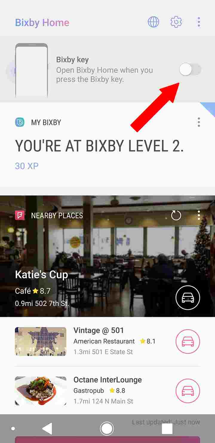 How to disable Bixby button step 3
