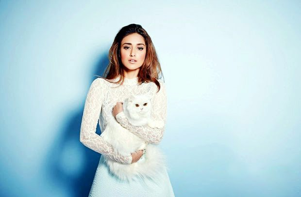 Ileana D'Cruz in white fish-net gown