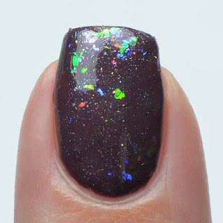 color shifting flakie topper