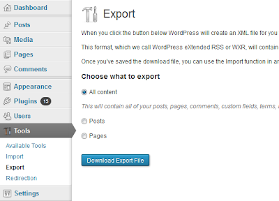 how to transfer website from wordpress to blogger