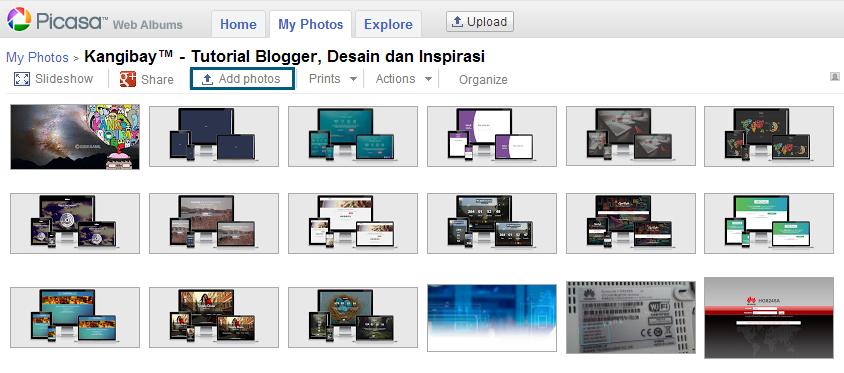 Picasaweb Google Hosting Gratis untuk Upload Gambar