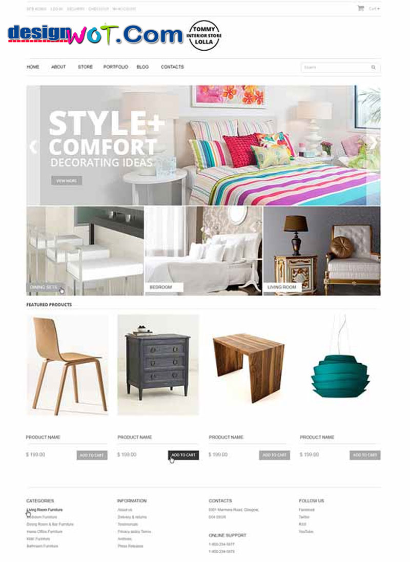storeFurniture Responsive eCommerce Theme
