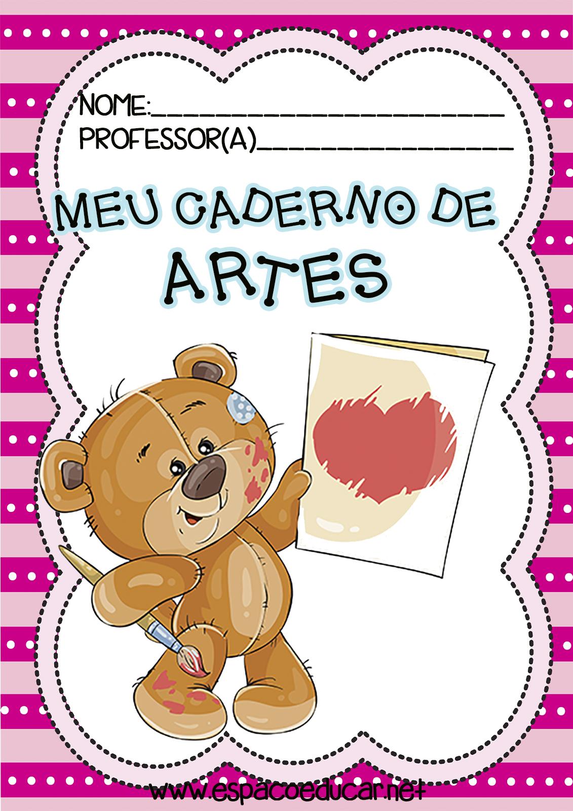 Capas Frentes Ou Aberturas De Caderno De Artes Tema Ursinho