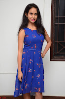 Pallavi Dora Actress in Sleeveless Blue Short dress at Prema Entha Madhuram Priyuraalu Antha Katinam teaser launch 047.jpg