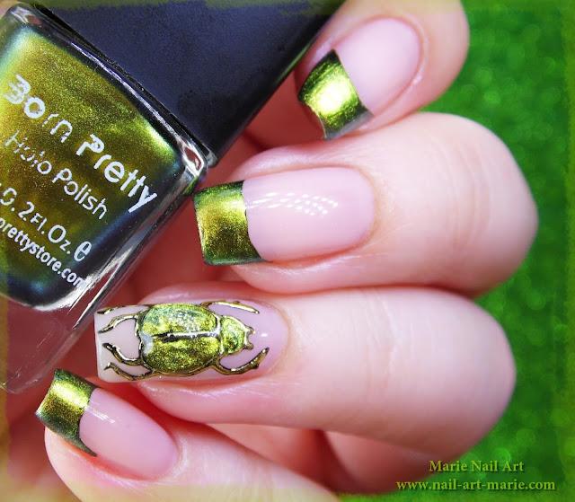 nail art scarabée4