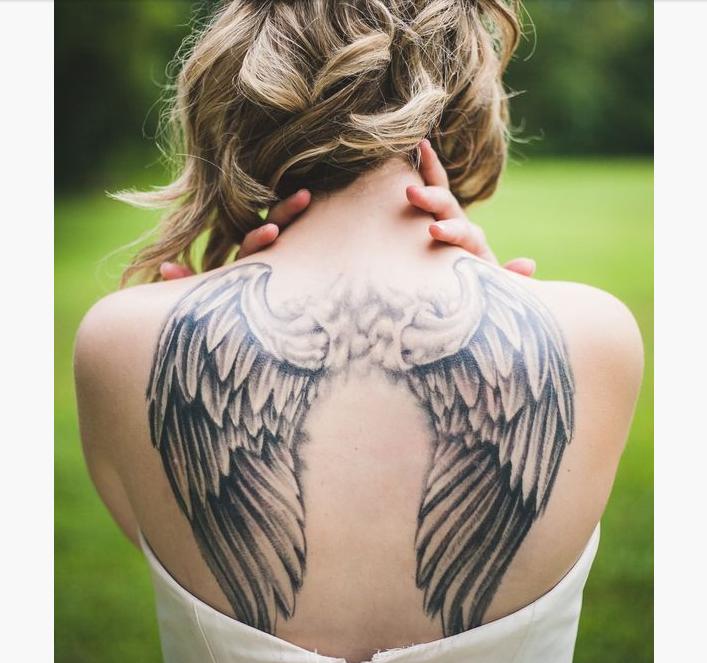 Tattoo Woman Reading: Mytattooland.com: Wings Tattoo Ideas