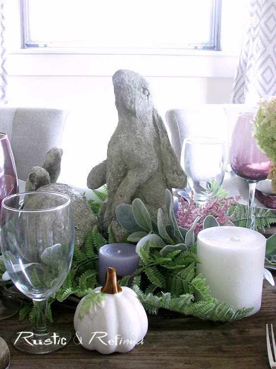 Rustic Tablescape for entertaining