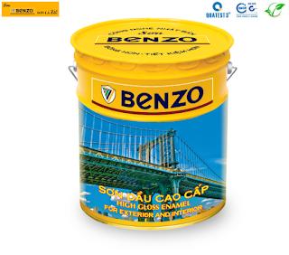 Sơn dầu alkyd phủ màu chính hãng Benzo