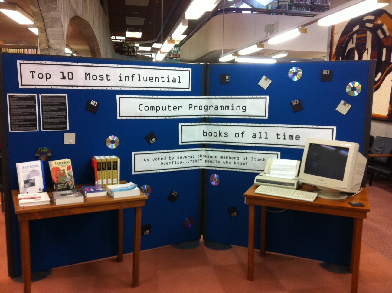 Library Display - Top 10 most influential computer