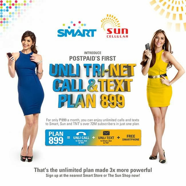 Unli Tri-Net Call and Text Plan 899