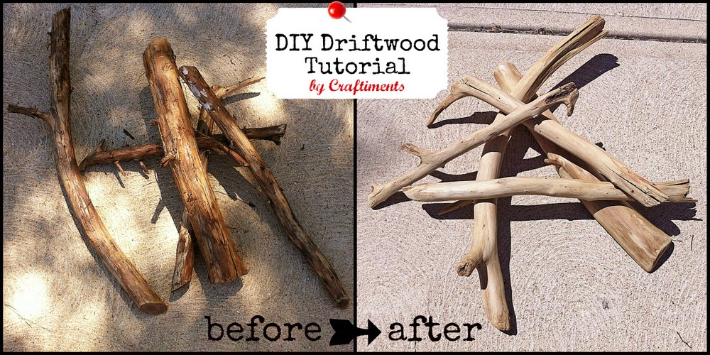craftiments diy driftwood tutorial