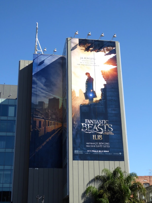 Eddie Redmayne Fantastic Beasts billboard