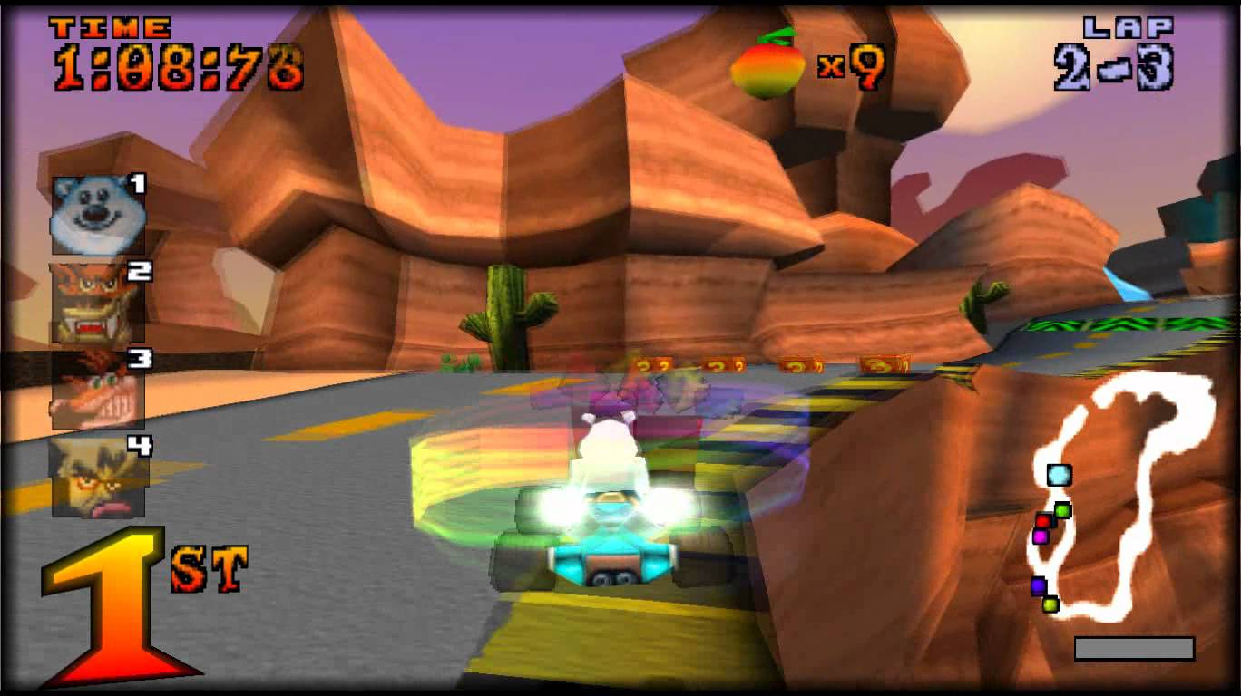 Free Download Crash Team Racing (CTR) PS1 For PC Portable Version