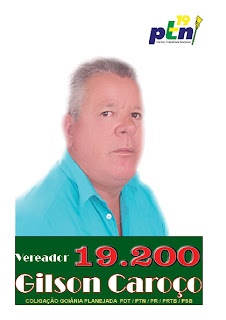 Candidato a vereador Gilson Caroço 19200 Eleições 2012