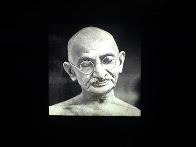 An Image of Mahatma Gandhi, Bapu the Father of the nation, Sabarmati Ashram in Ahmedabad, Gujarat