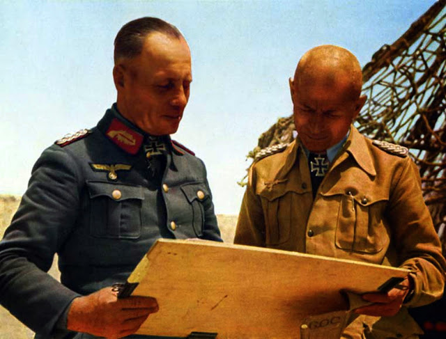Erwin Rommel Stefan Fröhlich color photos of World War II worldwartwo.filminspector.com