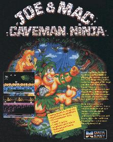 Caveman Ninja Joe & Mac arcade game portable flyer