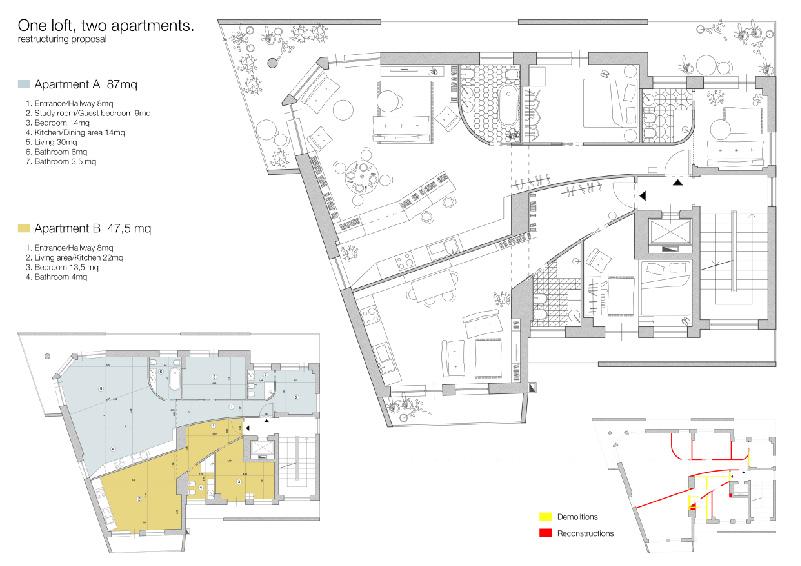 Soluzione progettuale porposta dall'architetto Emiliano Zandri