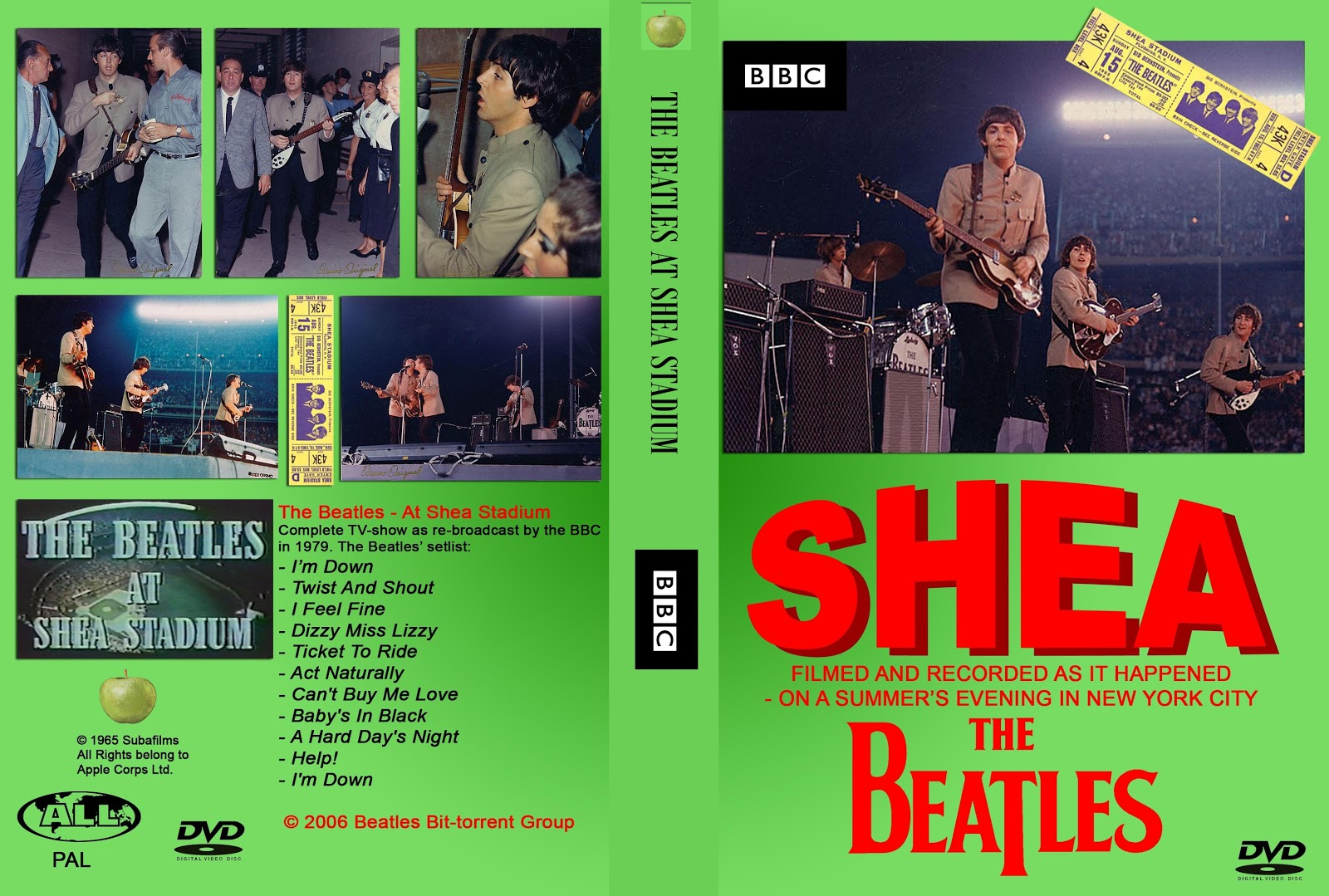 T U B E The Beatles 1965 08 15 New York Ny Dvdfull Pro Shot