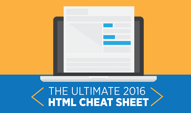The Ultimate 2016 HTML Cheat Sheet