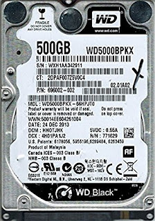 WD HARD DISK 500GB 2.5""