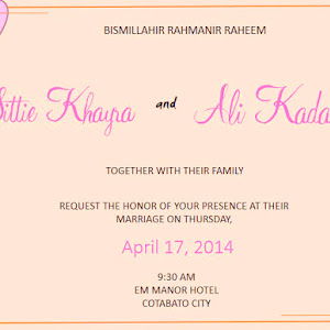 Wedding Invitation Sample Template