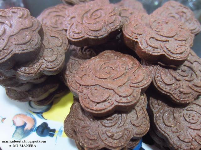 GALLETAS DE CHOCOLATE Y ACEITE DE OLIVA