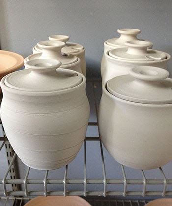 Pottery Honey Jars by Lori Buff