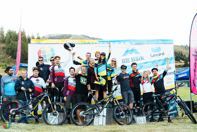 2016 Enduro World Series: Cerro Catedral, Argentina Team Podium