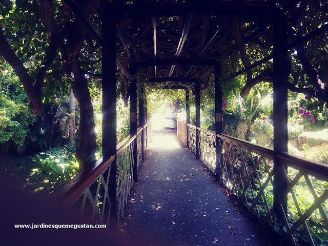 Puente sobre los jardines