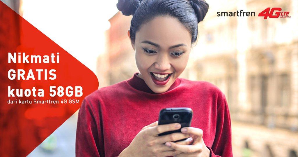 Paket Kuota Smartfren 4G 58 GB
