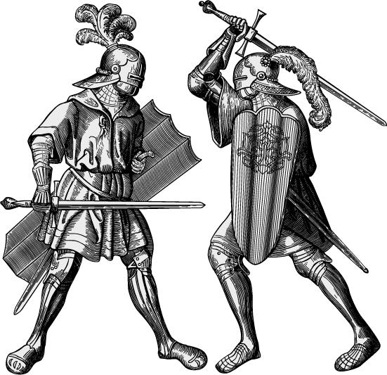 Soldados medievales - Vector