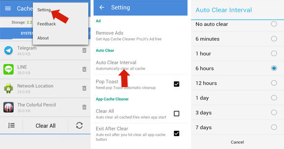 Cara Menghapus Cache Otomatis di Android