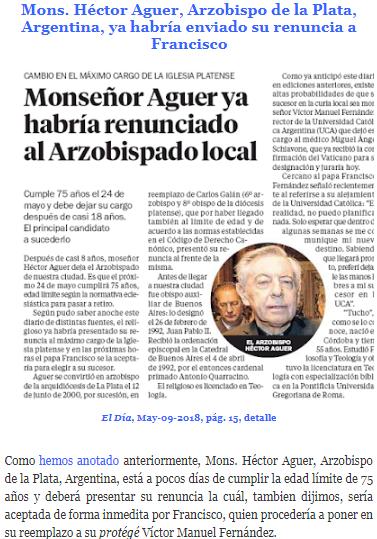 6f891fcf3d77e ´Tucho  Fernández, hombre de confianza del Papa, ya roza el Arzobispado de  La Plata.