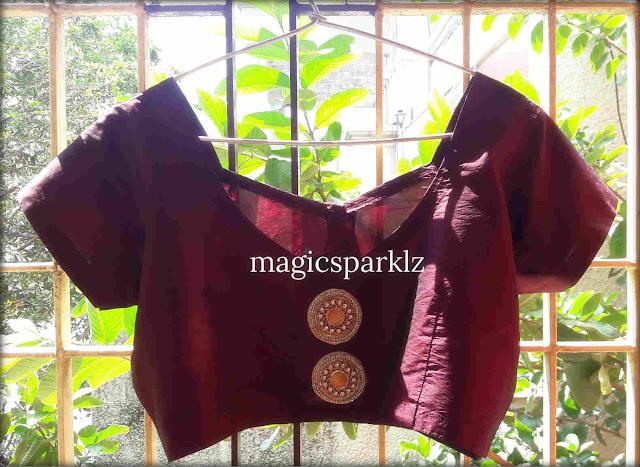 Easy DIY steps to transform your plain silk cotton blouse into a designer blouse
