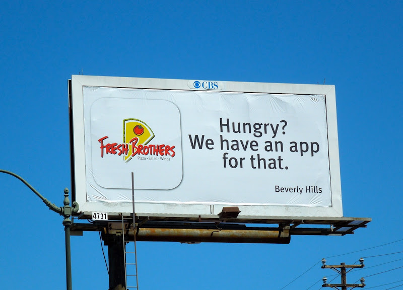 Fresh Brothers app billboard