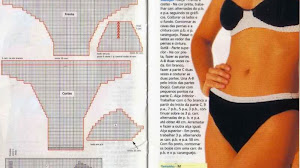 Bikini tejida - moldes