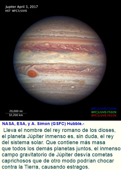 Hubble toma en primer plano retrato de Júpiter.